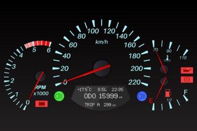 Armaturenbrett auto  Schwarz armaturenbrett zeichen. auto-computer fototapete ...