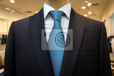promo code 2af71 a6fdd Fototapete: Schwarz business-anzug mit einem weißen hemd und mit einer  blauen
