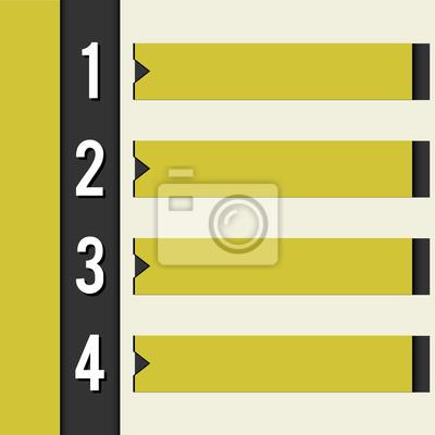 schwarz gelb design template Retro-Stil