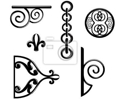 Schwarz metallic Dekorationen