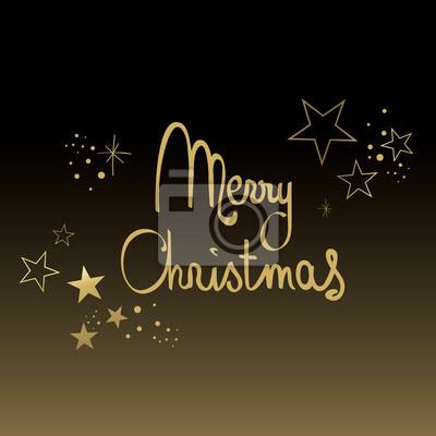 Frohe Weihnachten Gold.Fototapete Schwarz Und Gold Frohe Weihnachten