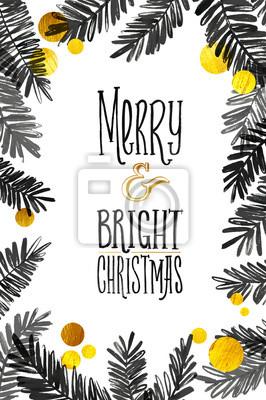 Frohe Weihnachten Glitzer.Fototapete Schwarz Und Gold Frohe Weihnachten Karte Golden Glänzend Glitzer