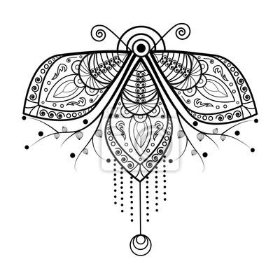 Schwarz Und Weiß Mandala Vektor Für Malbuch Mandala In Bianco