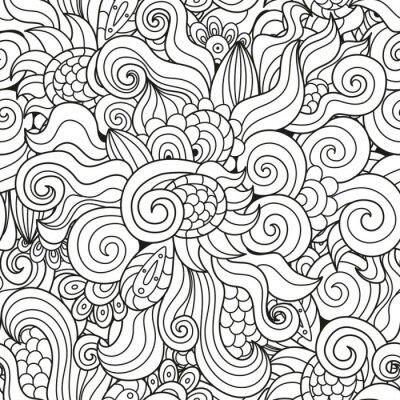 Schwarz und weiß wellig nahtlose Muster