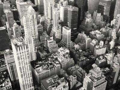 Fototapete Schwarz-Weiß-Ansicht von Midtown New York City