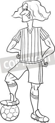 Schwarz Weiss Karikatur Illustrationen Von Fussball Oder