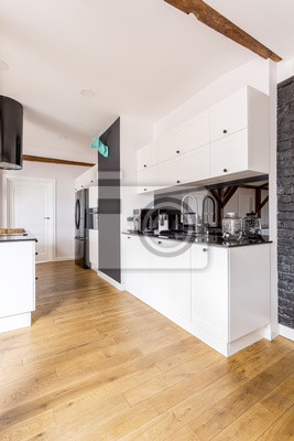 Schwarz-weiß-küche fototapete • fototapeten appartment, geräumig ...