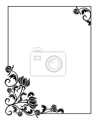 Fantastisch Schwarzweiß Clipart Blumen Zeitgenössisch - Kleider und ...