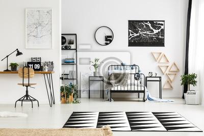 Fototapete Schwarz Weiß Schlafzimmer