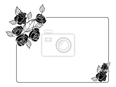 Fototapete Schwarz Weiß Vektor Design Element Für Werbung, Flyer, Web