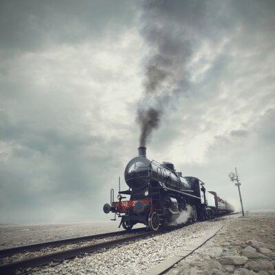 Fototapete schwarz-Zug