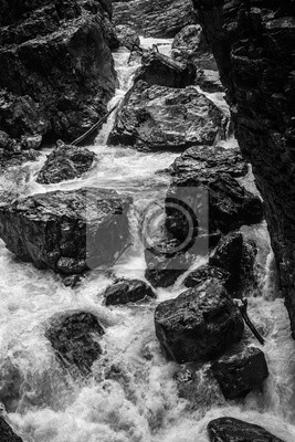 Fototapete schwarze Felsen