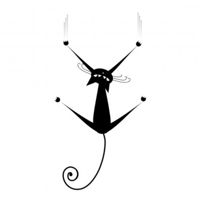 Schwarze Katze Silhouette für Ihr Design
