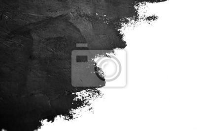 Fototapete Schwarze Pinselstriche Ölfarben auf weißem Papier. Isoliert auf weißem Hintergrund. Zusammenfassung kreativen Hintergrund