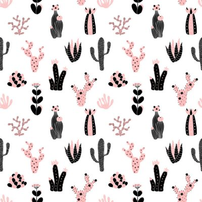 Fototapete Schwarzen und rosa Muster