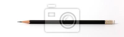 Fototapete Schwarzer Farbbleistift lokalisiert auf weißem Hintergrund.