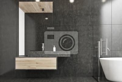 Schwarzes Badezimmer Mit Einem Waschbecken Fototapete Fototapeten
