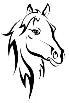Schwarzes Pferd Silhouette