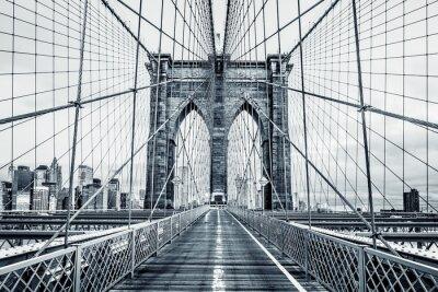 Fototapete Schwarzweiss-Brooklyn-Brücke