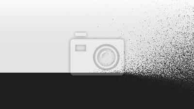 Fototapete Schwarzweiss-Hintergrundstaubexplosion, Vektorillustration