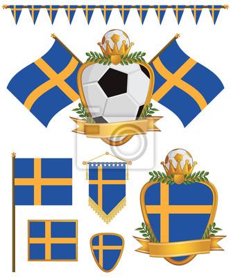 Schweden-Flaggen