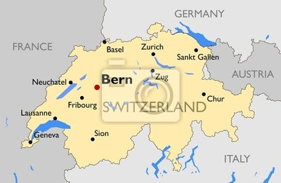 Freiburg Schweiz Karte.Fototapete Schweiz Karte