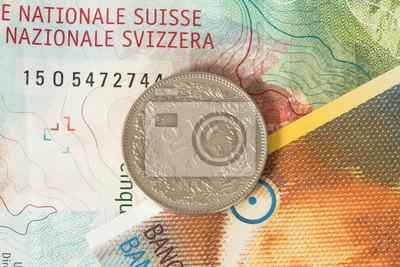 Schweizer Franken Münzen Und Banknoten Fototapete Fototapeten