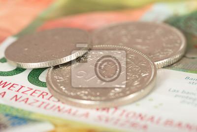 Schweizer Franken Münzen Und Geldscheine Fototapete Fototapeten