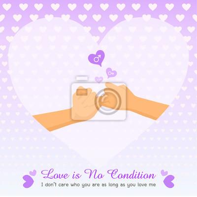 Schwule Liebe Keine Bedingung Purpurrote Violette Querfingerhande