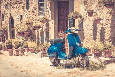 Fototapete Scooter in der Toskana