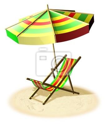 Sonnenschirm strand comic  Sdraio e ombrellone-strand und meer urlaub-3d fototapete ...