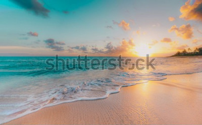 Fototapete sea beach blue sky sand sun daylight relaxation landscape viewpoint for design postcard and calendar in thailand