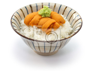 Sea Urchin Roe On Rice Japanese Food Fototapete Fototapeten