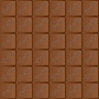 Seamless Chocolate Bar Repeating Pattern