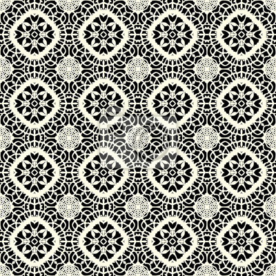 Fototapete Seamless Doily Pattern For Wedding Invitation Vintage Abstract