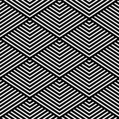 Fototapete Seamless geometric texture.