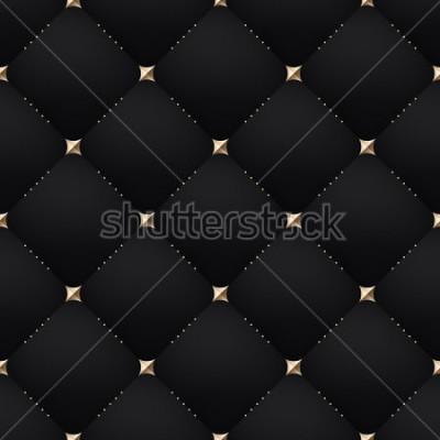 Fototapete Seamless luxury dark black pattern and background. Vector Illustration