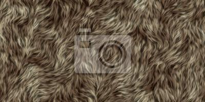 Fototapete seamless texture of fur