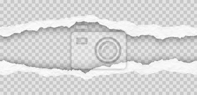 Fototapete seamless torn paper edges, vector illustration