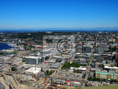 Seattle Innenstadt Luftaufnahme