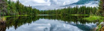 Fototapete See in der Nähe von Mendhenall Glacier riesige Landschaft