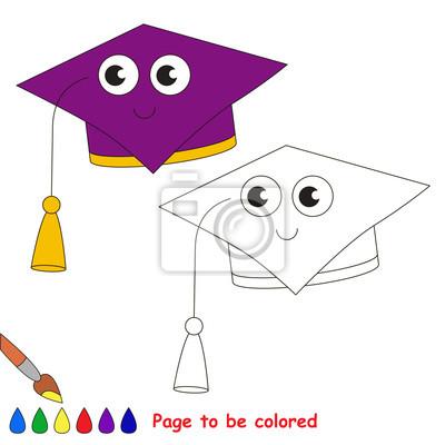 Seite zu färben, einfache bildungsspiel für kinder. fototapete ...