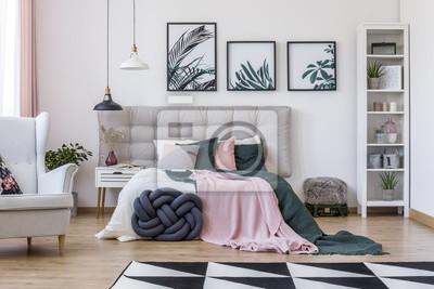 Sessel im gemütlichen schlafzimmer fototapete • fototapeten ...