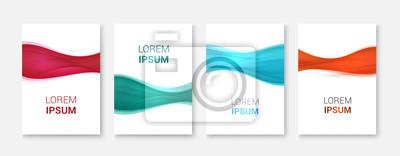 Set Abstrakte Welle weißes Vektor-design.Vector Business-Broschüre, Flyer Vorlage