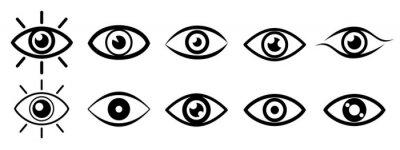 Fototapete Set eye icons, vision sign – stock vector