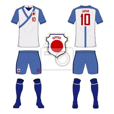 Set fußball trikot oder fußball kit vorlage für japan ...