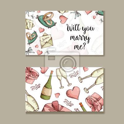 Set Hochzeitseinladungen Hochzeitskarten Vorlage Mit Individuellem