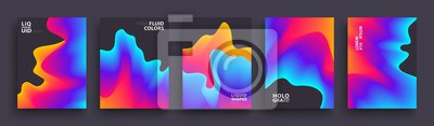 Fototapete Set of Abstract Gradient Wavys. Modern Covers Template Design for Presentation, Magazines, Flyers, Social Media Templates. Vector EPS 10