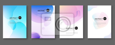 Fototapete Set of abstract vector backgrounds with line waves.Vector illustration.