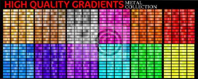 Fototapete Set of colorful gradients